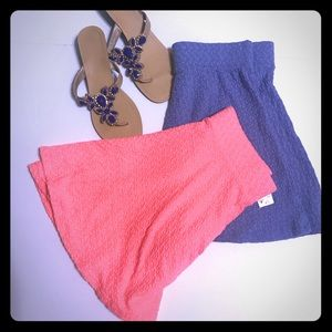 PacSun Skirts - PACSUN LA HEARTS Skater Skirt in Coral Pink SK-55]